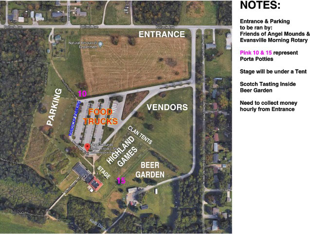 Highland Games Event Map